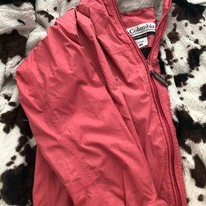 Columbia rain jacket pink